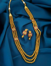Shop for Long Necklace Designs at Anuradha Art Jewellery.